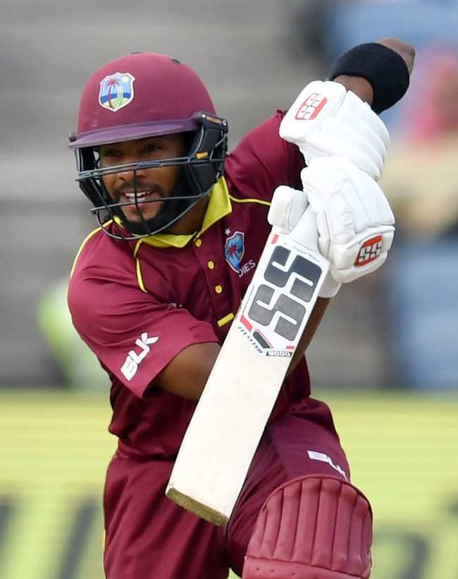 Shai Hope's seventh ODI fifty kept Windies on track.