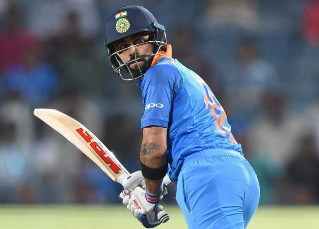 With Bhuvneshwar Kumar for company, Kohli racked up his 38th ODI hundred.