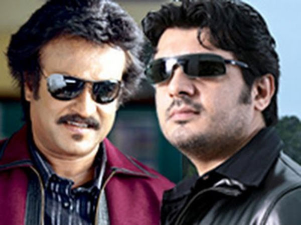 Image result for rajini and ajith
