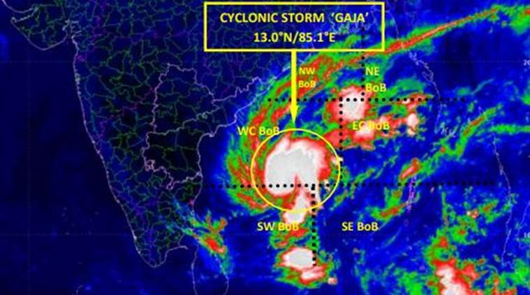 Image result for gaja cyclone