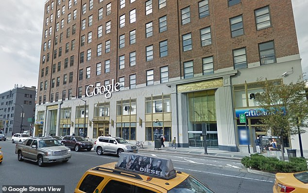 A janitor discovered Krulcik unconscious at his work station on the sixth floor of Google's office in Chelsea (pictured) around 9pm