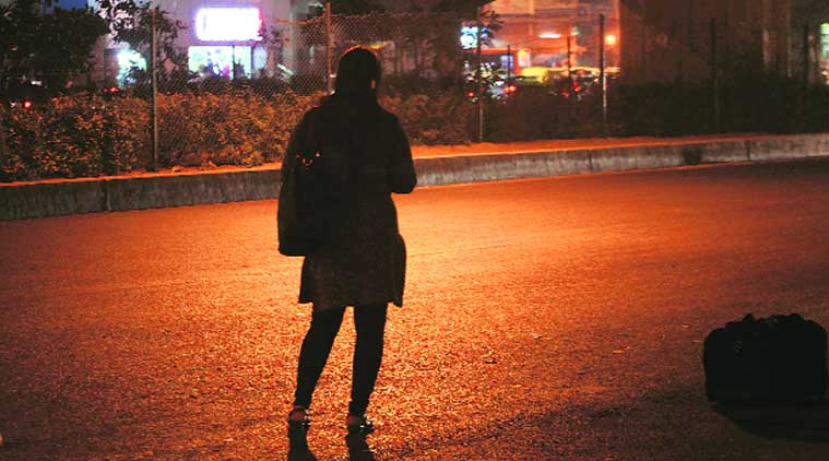 girl waiting for bus at night க்கான பட முடிவு