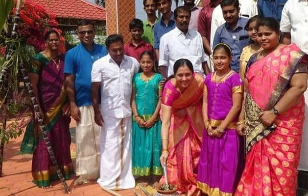 actress devayani celebrates pongal festival with her family and her village people