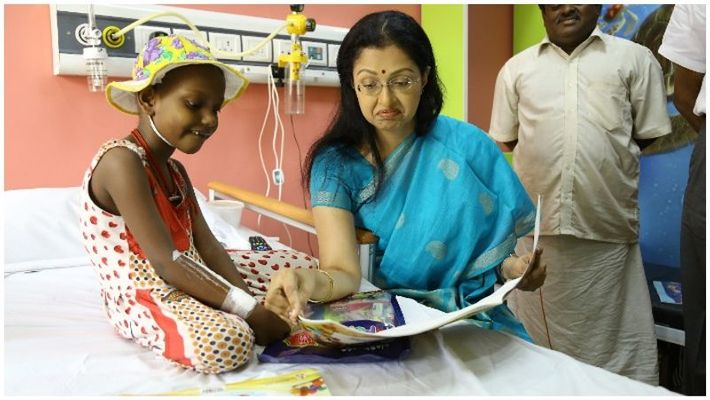 actress gowthami vist the cancer hospital