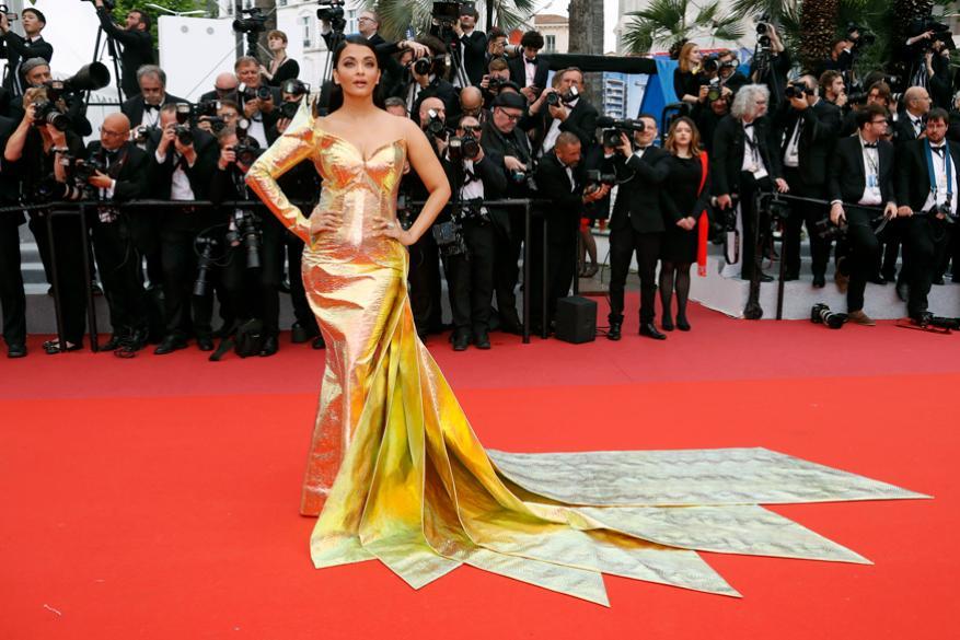 ஐஸ்வர்யா ராய் பல ஆண்டுகளாக இத்திரைப்பட விழாவுக்கு வருவதை வழக்கமாக கொண்டுள்ளார். (Image: Reuters)