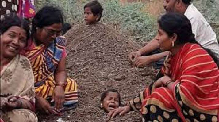 kids buried in soil for solar eclipse க்கான பட முடிவு
