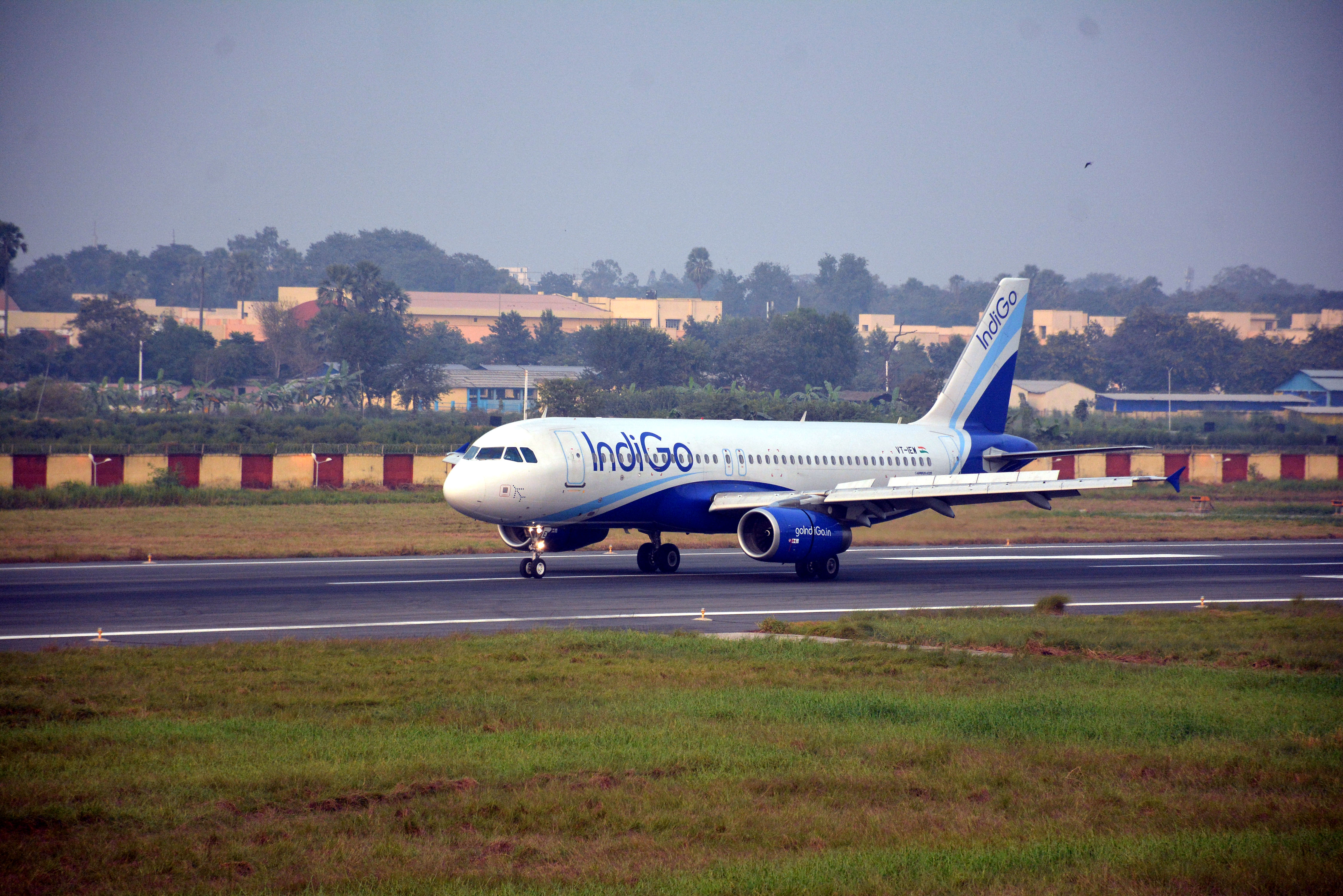 IndiGo Airlines bus catches fire at Chennai airport