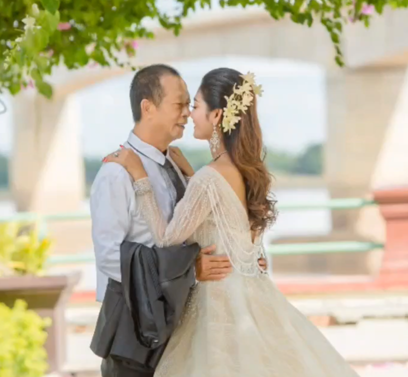 Young Cambodian woman marries 70-year-old man