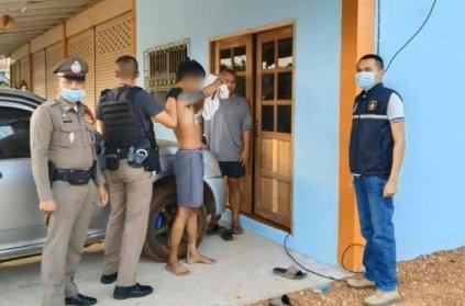 Thailand man who broke into a police house fallen asleep