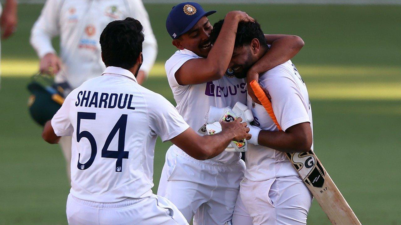 ind aus gabba test win rishabh pant ravi shastri emotional