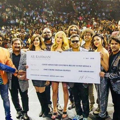 ar rahman donates kerala க்கான பட முடிவு