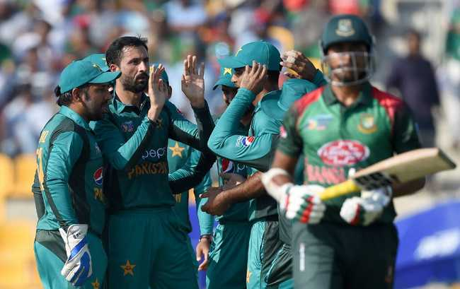 Bangladesh opted to bat, only to be stunned early by Junaid Khan, who was brought in for Mohammad Amir and sent both the openers packing.