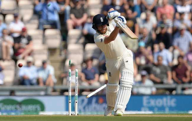 Jonny Bairstow fell first ball after Lunch with England losing two in two balls, leaving Shami on a hat-trick - one which he didn't get eventually.