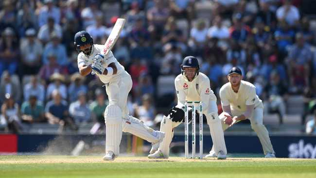 Kohli reached another half-century but was caught at short leg soon after for 58.
