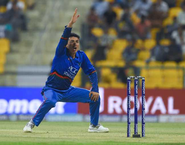 Mujeeb Zadran dented Sri Lanka early by removing Kusal Mendis for a duck.