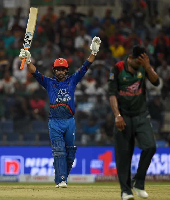 Rashid Khan scored a half-century en route a 95-run stand for the eighth wicket that turned the game on its head.