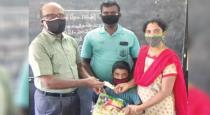School head master gives 1000 to students