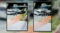 Kerala car and bus accident viral cctv video
