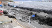 Heavy sea waves Sunami symptoms in kanyakumari