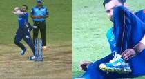 Rohit Sharma leg injury against kkr ipl t20 bowling