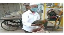 karnataka-man-went-with-hen-during-lockdown