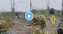 Gujarat scooter stuck in railway track viral video