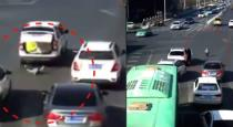 Baby fallen from running car viral video