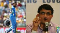 ganguly open up about the position of rohit sharma in iindian team
