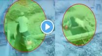 UP man fallen into septic tank viral video