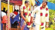Unique wedding set upon junkar after brides house flooded in heavy rain