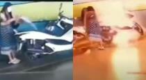 Women set to fire of ex boy friend bike viral video