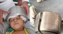 Child head struggled in cooker at gujarat