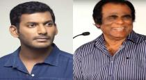 Actor vishal confirms corono to his father