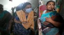 2 daughters pray with mother dead body