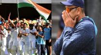 Ravi Shastri cried after India won against Australia
