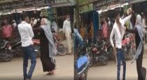 Mother in law beaten his son in law by slippers viral video