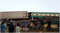 At least 35 killed in train crash in Sindh province