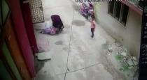 Young women kicks mother in law who denied to speak with husband