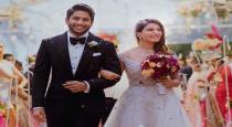 samantha post on her wedding day