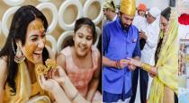 Actress panjabi kamya second marriage engagement photos