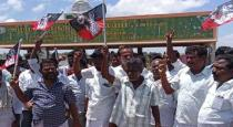 admk members protest for candidate