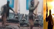 taliban fighter dance video