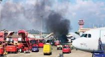 Omni bus fire in Chennai airport
