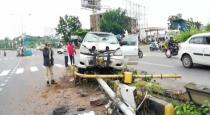 140 KG marijuana seized after car met accident in Andhra