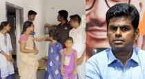 BJP candidate Annamalai stayed at small girl house during election canvas