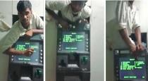 North indian man got struck in ATM viral video