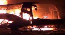 passengers bus fired
