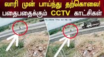 Man suicide jumping in front or lorry cctv video goes viral