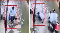 man-gets-electric-shock-while-walking-on-waterlogged-ro