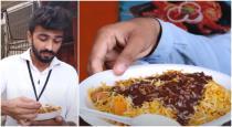 Man tasting Chocolate Biryani at Karachi shop viral video